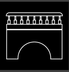 Bridge it is icon vector