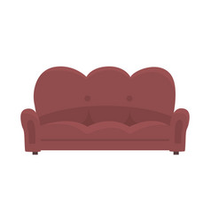 brown vintage sofa or couch living room or office vector image