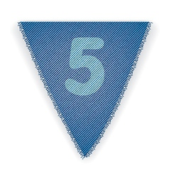 Bunting flag number 5 vector image