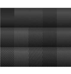 Carbon and fiber backgrounds for texture design vector