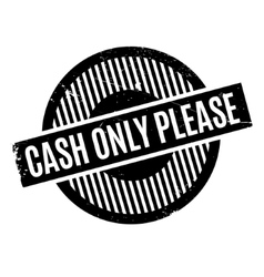 Cash Only Please rubber stamp vector