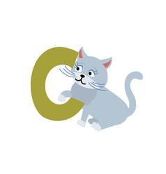Cat animal alphabet symbol english letter c vector
