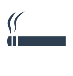cigarette icon on white background vector image