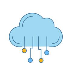 cloud computing color icon vector image