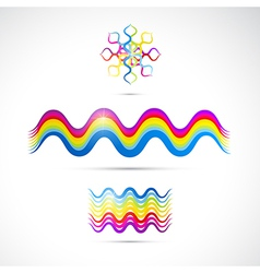 Colorful abstract shapes vector image