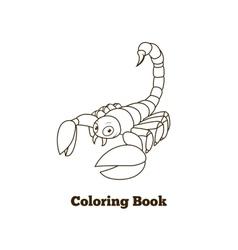Coloring book elephant african animal cartoon vector