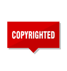 Copyrighted red tag vector