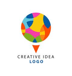 creative idea logo template with abstract circle vector image