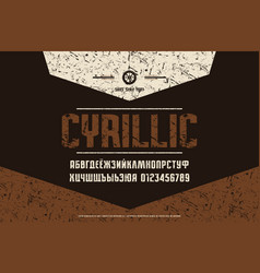 cyrillic narrow sans serif font vector image