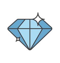 Diamond color icon vector