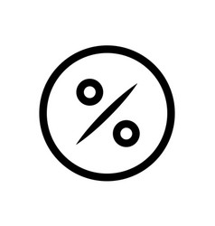 discount percentage inside circle icon in vector image