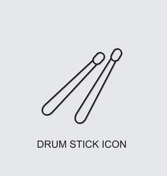 Drum stick icon vector