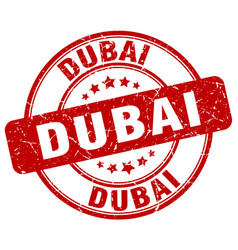 Dubai stamp vector