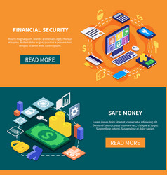 financial security banners vector image