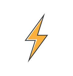 Flash icon symbol simple design vector