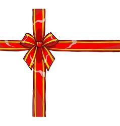 gift ribbon and bow vector image