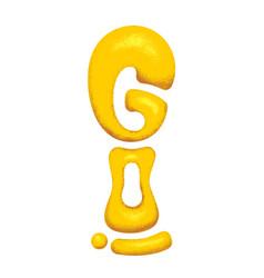 Golden letters go vector