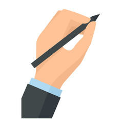 Hand writing icon flat style vector