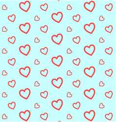 hearts pattern for valentines day background vector image