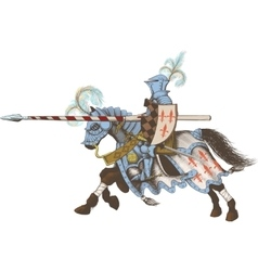 Horseback Knight of the tournament vector