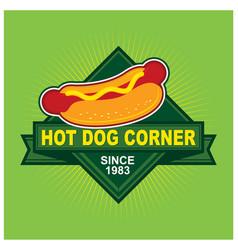 Hot dog corner logo vector