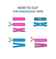 How to cut the kinesio tape vector
