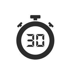 isolated stopwatch icon with thirty seconds vector image