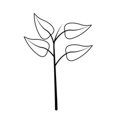 Leaf plant icon image vector