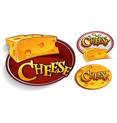 Logo designs with cheese vector