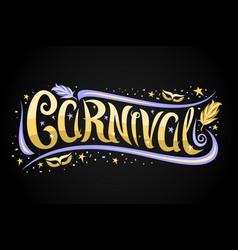 Logo for venice carnival vector