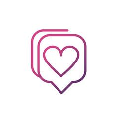 love talk bubble network social media icon line vector image