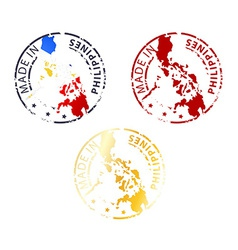 Made in philippines stamp vector