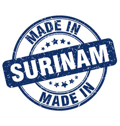 made in surinam vector image