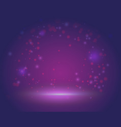 Magic scene beautiful background blank template vector