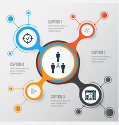 Management icons set collection of system vector