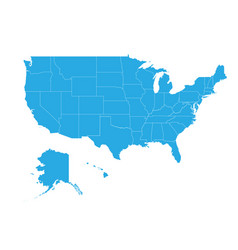 map of united state of america high detailed map vector image