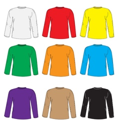 Mens t shirts design template set multi-colored vector