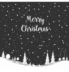 Merry christmas rabbit Happy New Year vector