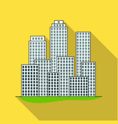 metropolisrealtor single icon in flat style vector image