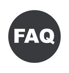 Monochrome round FAQ icon vector image