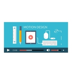 Motion Design Video Play Production vector