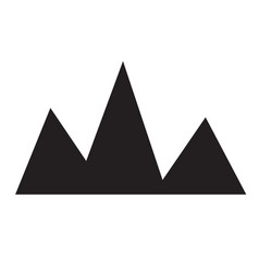 mountain icon on white background flat style vector image