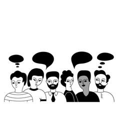 Multicultural group men vector