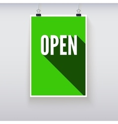 Open shopping door signs board vector image