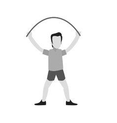 Person skipping rope vector image vector image
