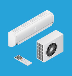 realistic detailed isometric 3d air conditioning vector image
