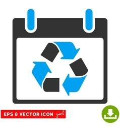 Recycle calendar day eps icon vector