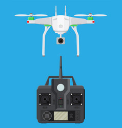 Remote controlled aerial drone vector