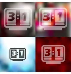 Score board icon on blurred background vector