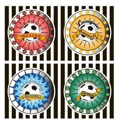 Set of soccer football logo vector image